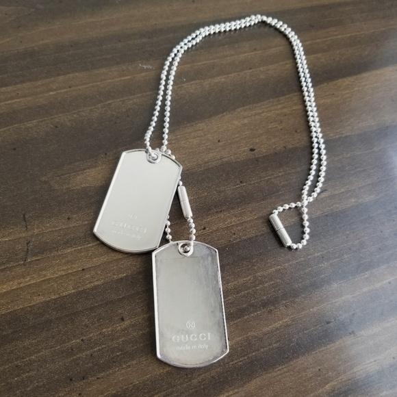 23689ab35 Gucci Accessories | Mens Dog Tag Necklace | Poshmark